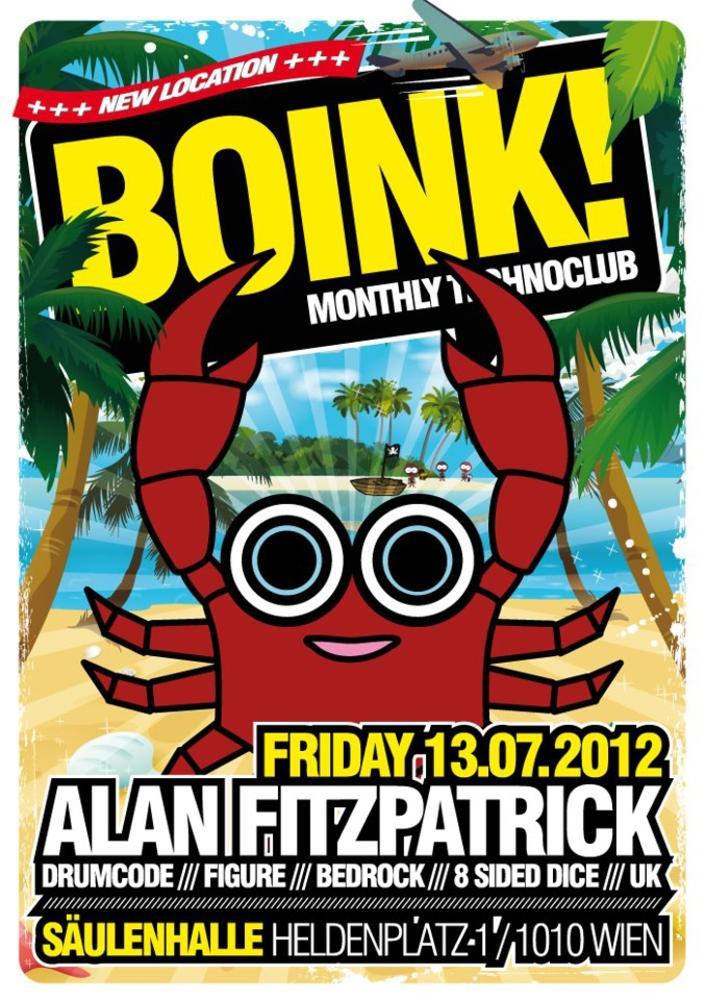 BOINK! with ALAN FITZPATRICK am Freitag, 13. Juli 2012, 20:00 Uhr (SÄULENHALLE am HELDENPLATZ)