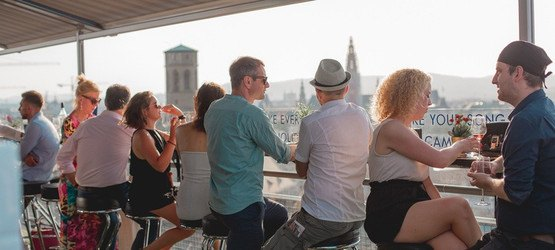 Foto von SkyRock Penthouse at Rooftop Freiluft Bar am 15.06.2019 (Hochhaus Herrengasse )