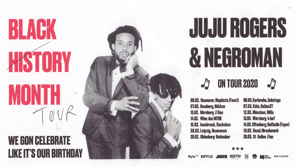 "JuJu Rogers & Negroman - ""Black History Month"" Tour 